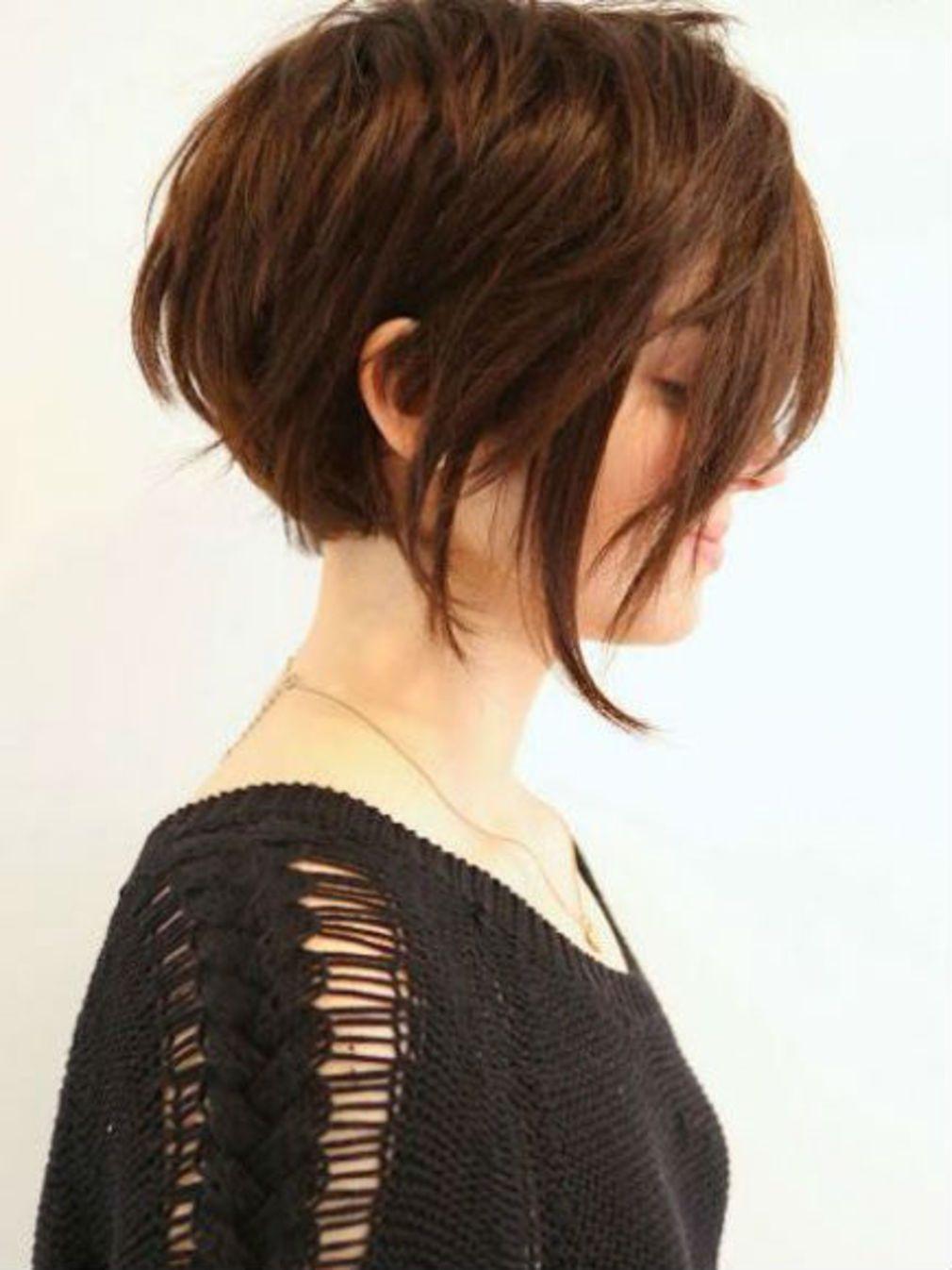 Carré plongeant dégradé sur cheveux courts | Cheveux courts carré plongeant, Cheveux courts ...