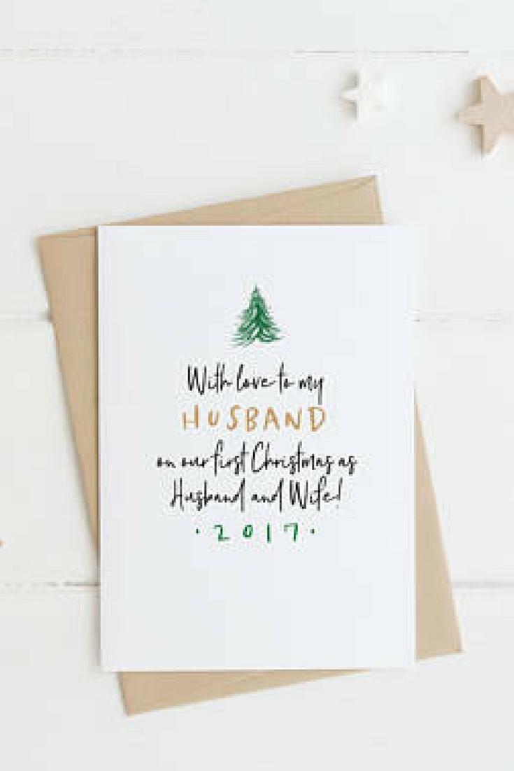 Christmas Card - First Christmas as Mr and Mrs - christmas card to ...