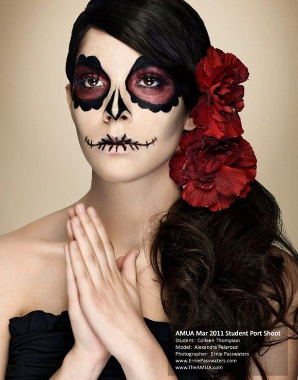 Maquillaje catrina dia de los muertos maquillaje pinterest party fun - Maquillage dia de los muertos ...
