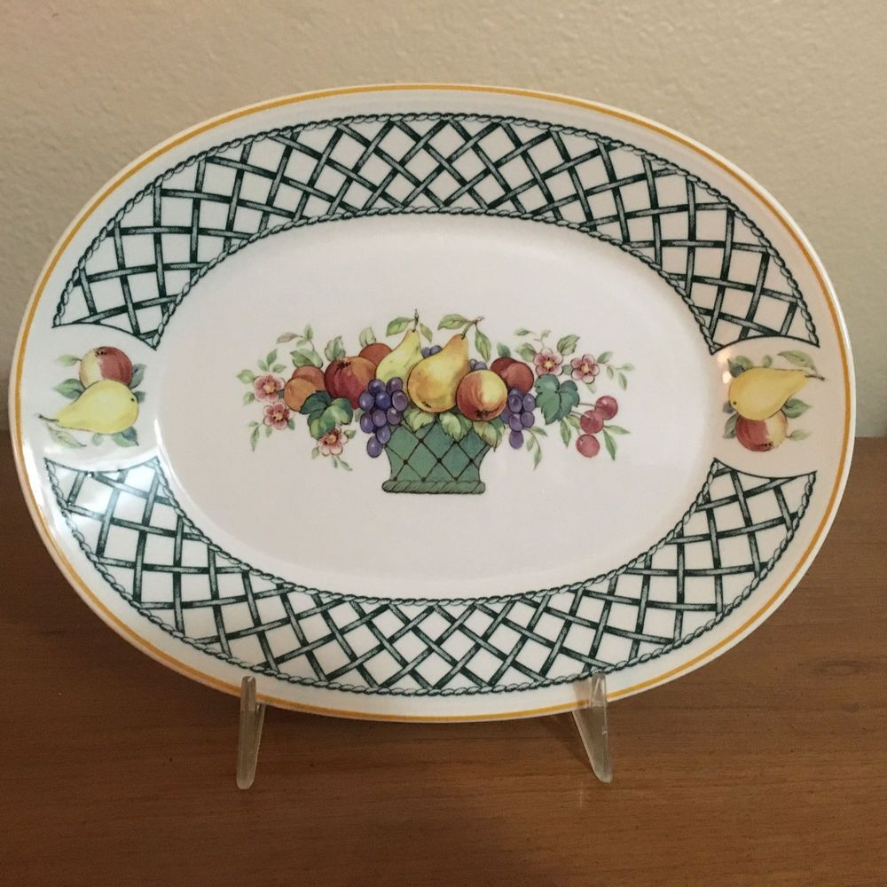 Villeroy Boch Basket Oval Relish Platter Amno 1748 Germany 8
