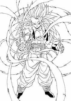Gotenks SSJ3  Dragon Ball Z  V  Pinterest  Dragon ball Super