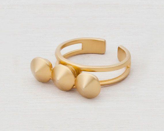 24K gold plating ring by  ShaniJacobiJewellery