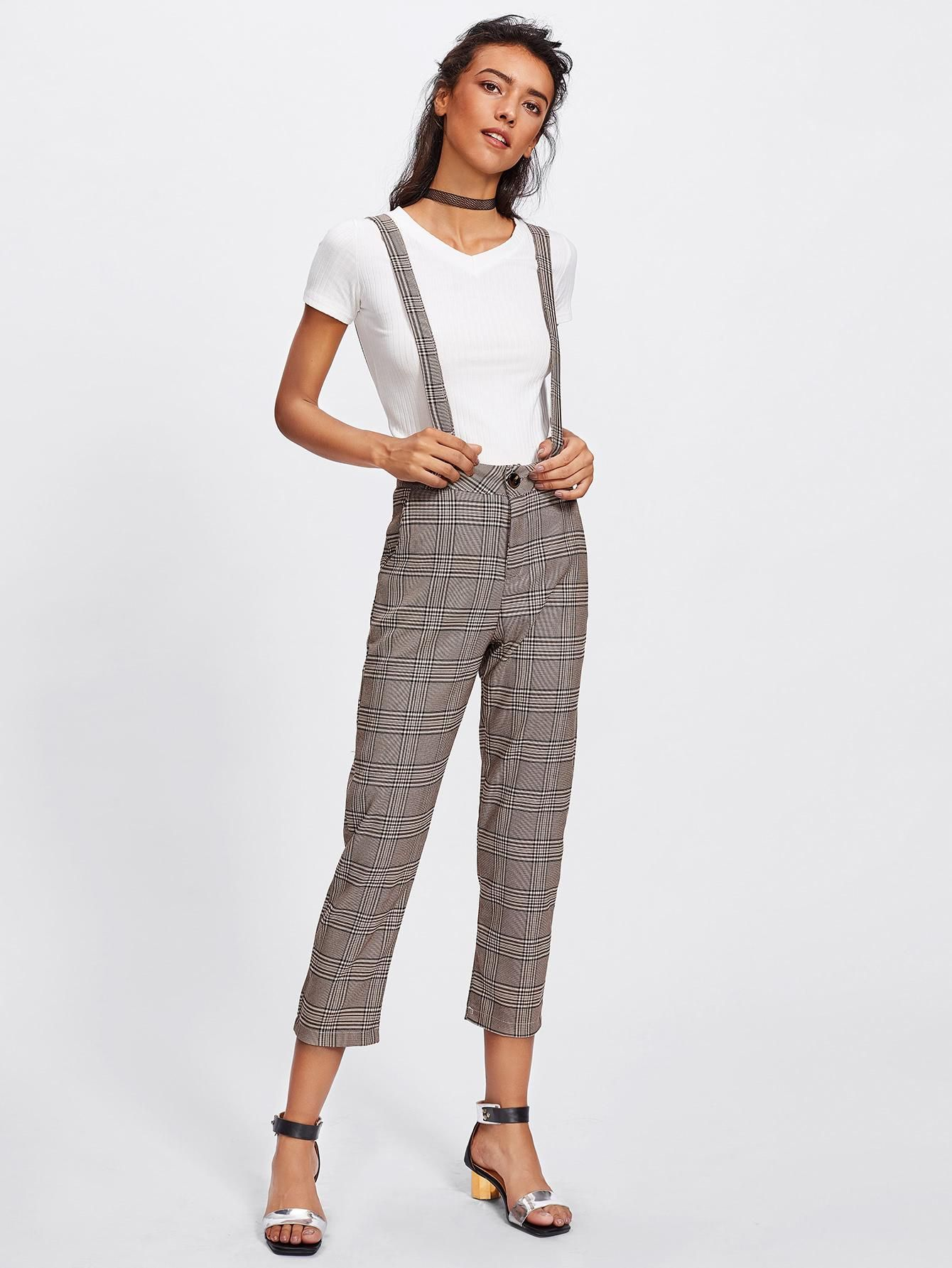 e6c0d7db0f1 SheIn offers Tartan Plaid Jumpsuit   more to fit your fashionable needs.