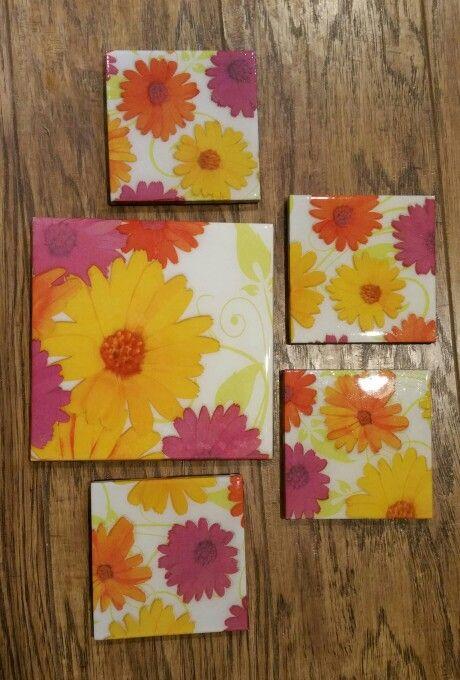 Flower Coasters and Trivet made by - Paula W & Rhonda W