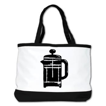 Grungy French press coffee pot Shoulder Bag
