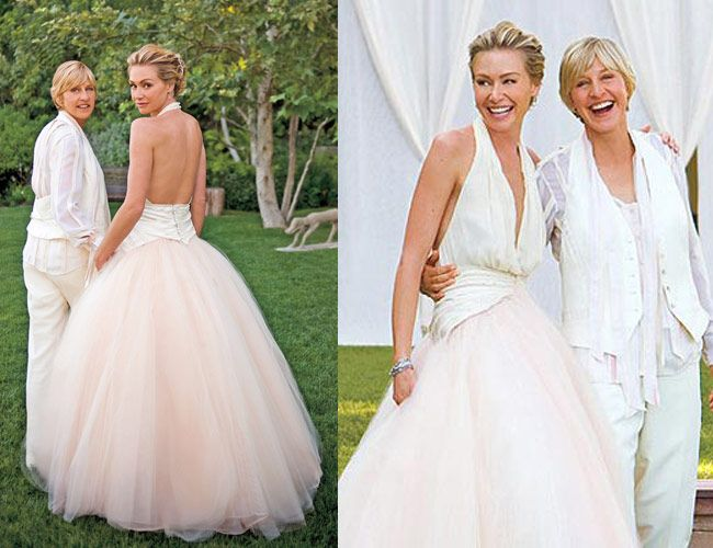 10 Memorable Celebrity Weddings Celebrity Weddings Ellen And