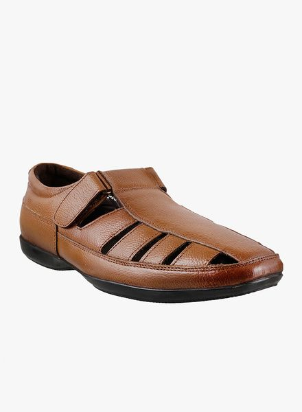 b38792bd482 Metro Shoes Men Formal Genuine Leather Sandals with a Velcro as a Closure  type