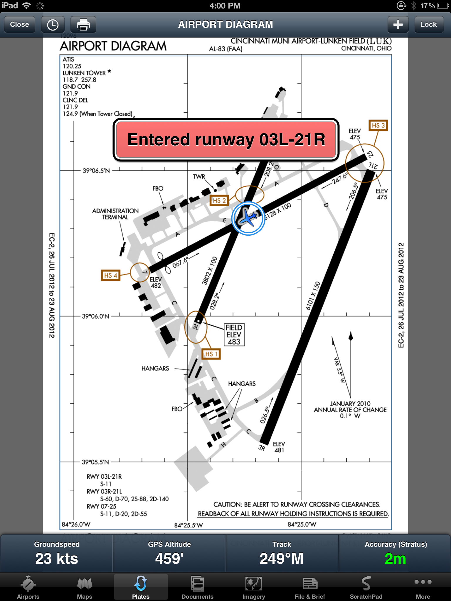 Foreflight Mobile adds new Runway Proximity Advisor