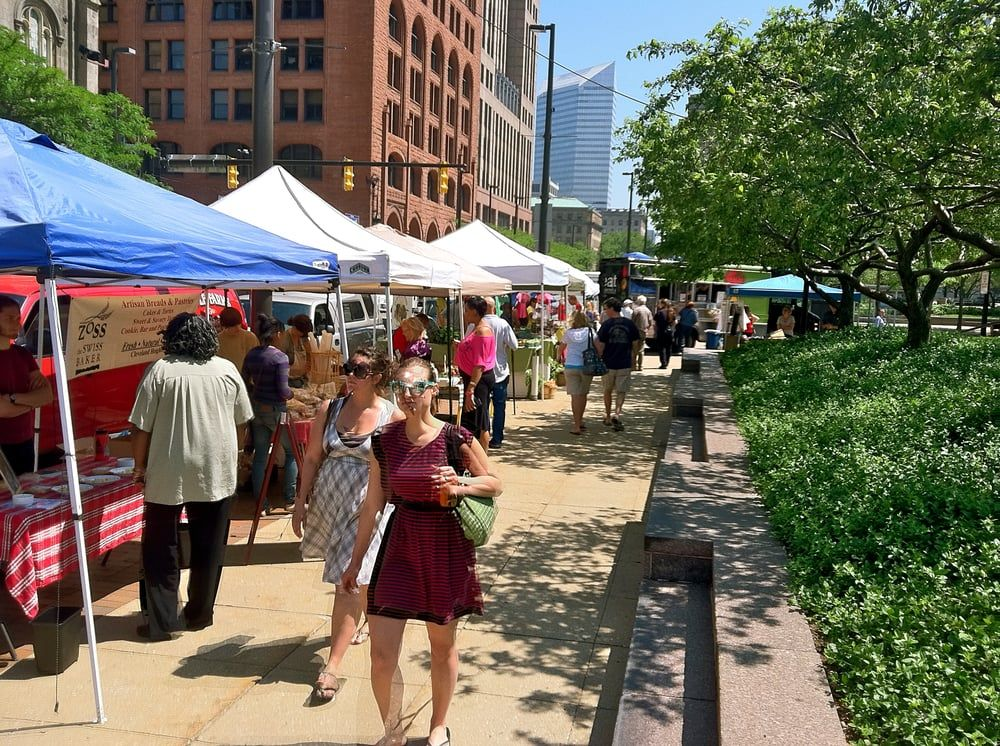 Friday is a market day Downtown Cleveland Farmers Market