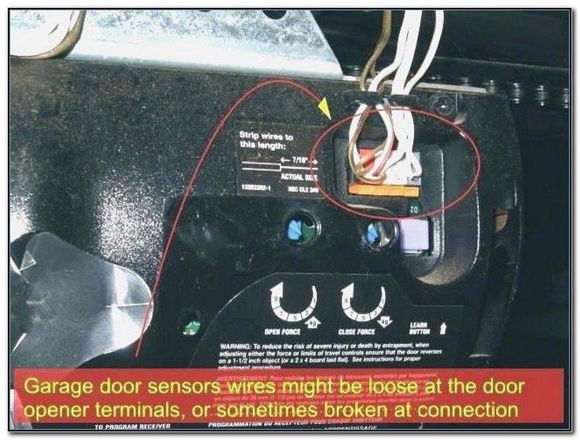Liftmaster Wiring Garage Door Sensor Wires Garage Door Opener