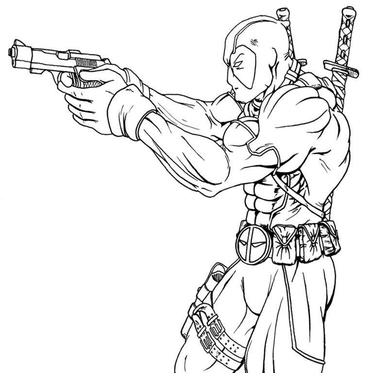 Deadpool Desenhos Para Colorir Imprimir E Pintar Com Imagens