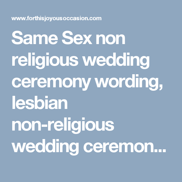 Same Sex Non Religious Wedding Ceremony Wording Lesbian New Jersey Officiant