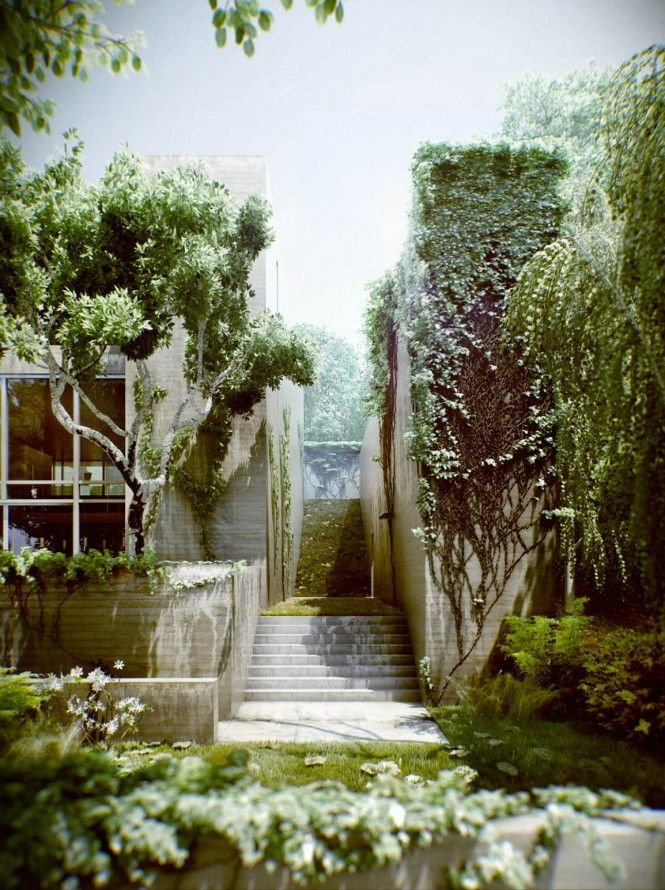 Lovely ivy overgrown house in hungary via design house ideas