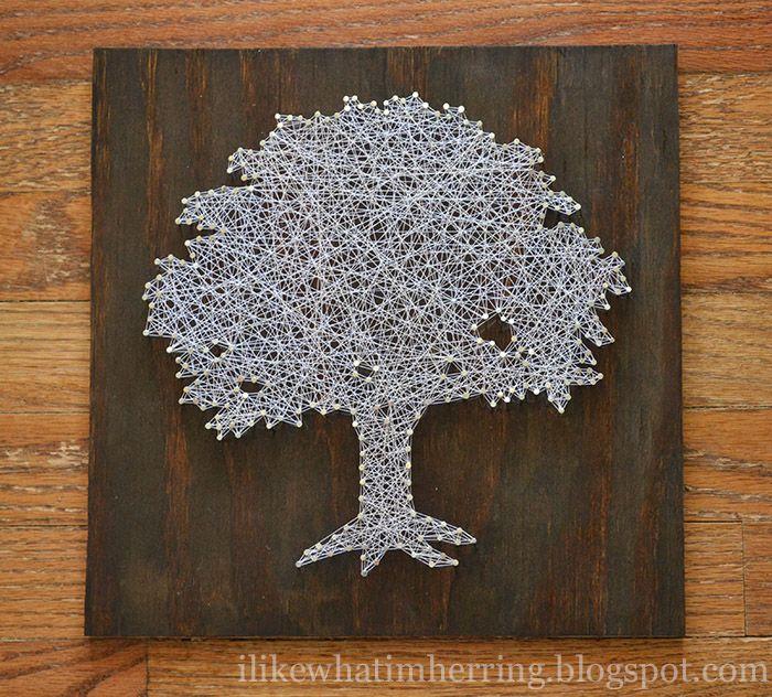 i like what i'm herring: toomer's tree string art