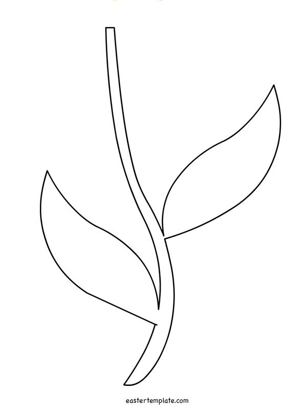 Printable Flower Stem Template  Stencils    Flower