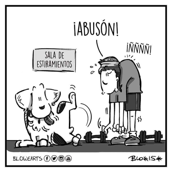 A ponerse en forma! Feliz #Finde! #Licoelperro #Humor #Perros #FelizViernes #Viñeta #Amor #Ejercicio