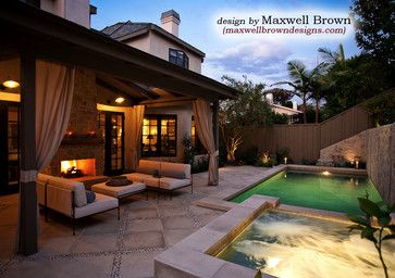 Port district small yard pool spa traditional pool for Pool design orange county ca