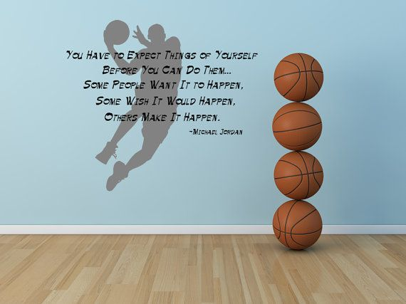 Michael Jordan, Inspirational Quote, Basketball   Decal, Sticker, Vinyl,  Wall, Part 71