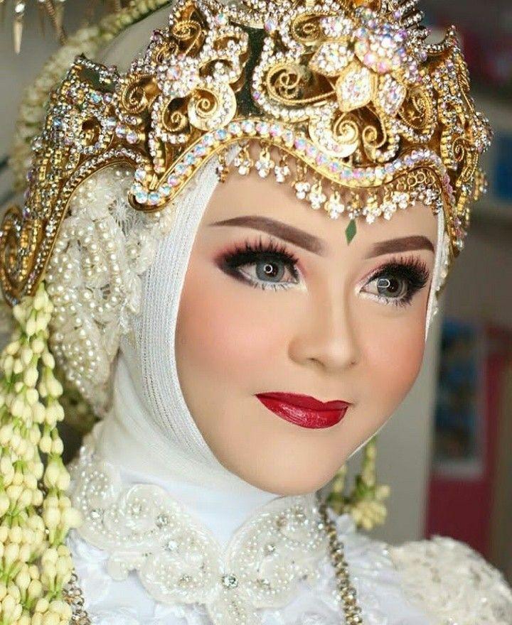 Sunda Siger Rias Wajah Pengantin Kerudung Pengantin Pengantin Wanita