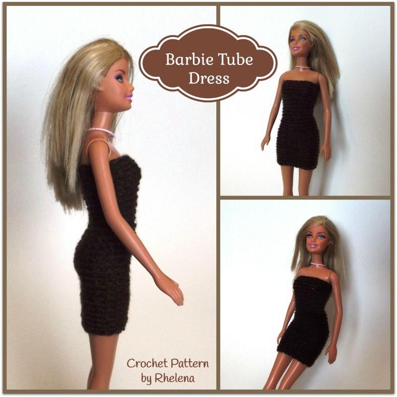 Lujo Patrones De Ropa De Muñecas Barbie Ganchillo Libre Colección ...