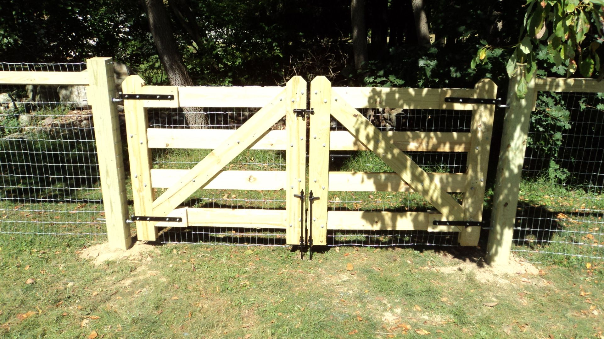 wood fence double gate. Custom Built Double Gate With Drop Rods By Tri-Boro Fencing Contractors Inc Wood Fence