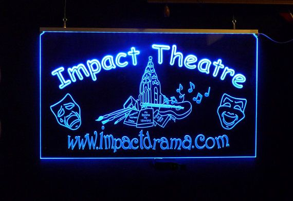 Custom LED Business Theater Sign Personalize with your