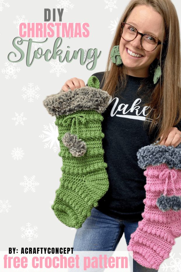 How To Crochet A Jolly Christmas Stocking Free Pattern - -   19 knitting and crochet Learning patterns ideas