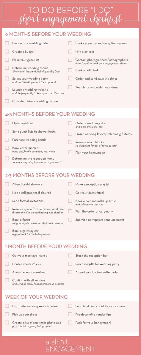 How to Plan Your Wedding in Six Months or Less (plus a free planning timeline!)   Wedding ...