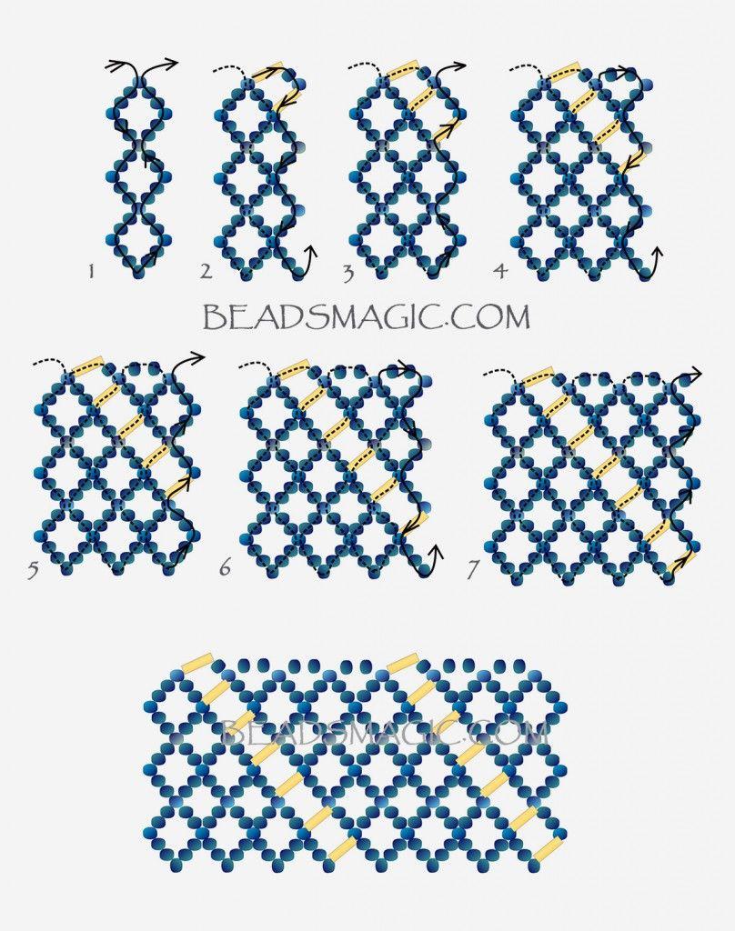Free pattern for beaded necklace Katrina   Beads Magic
