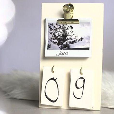 DIY - Tischkalender mit deinen Lieblingsbildern