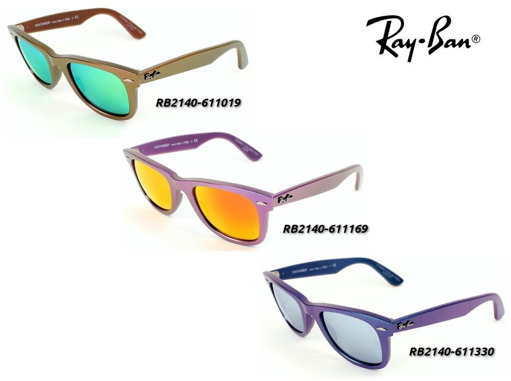 23b80e91f3ac4 ... canada ray ban rb2140 original wayfarer cosmo flash lens sunglasses  50mm made in italy rayban 261cc ...