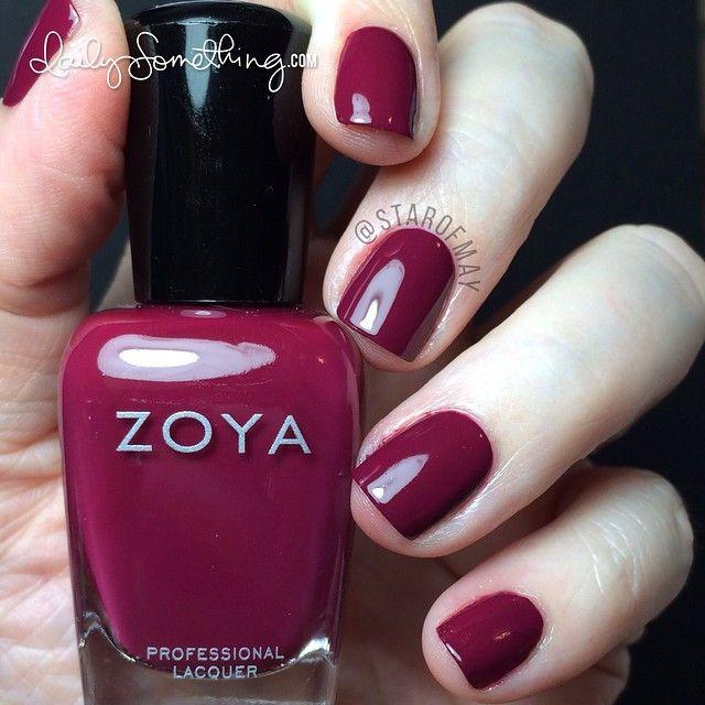 Zoya Veronica Full Coverage Red Wine My Hands Look As Pale