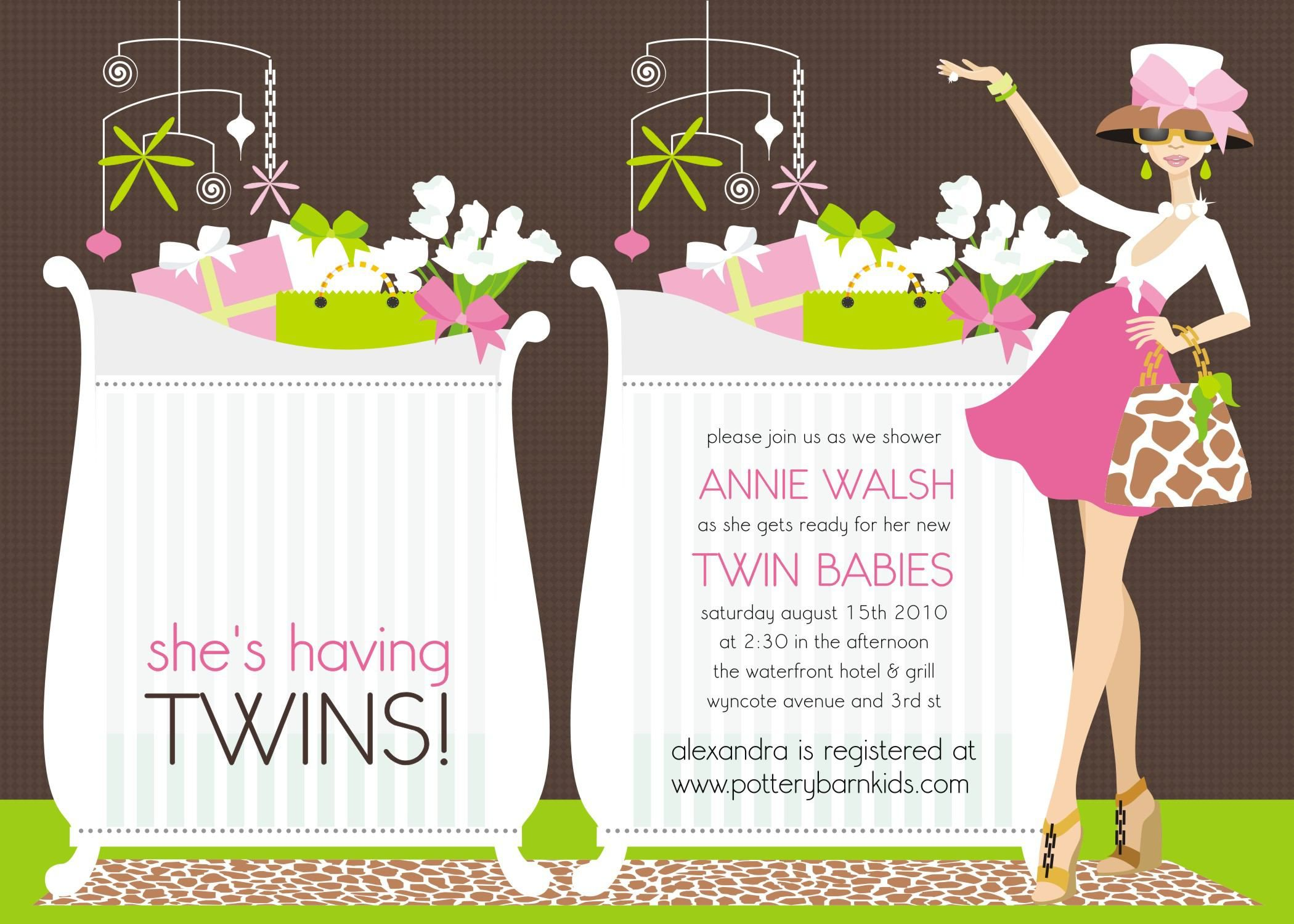 Baby Shower Invitations For Twins Templates | ash\'s baby shower ...