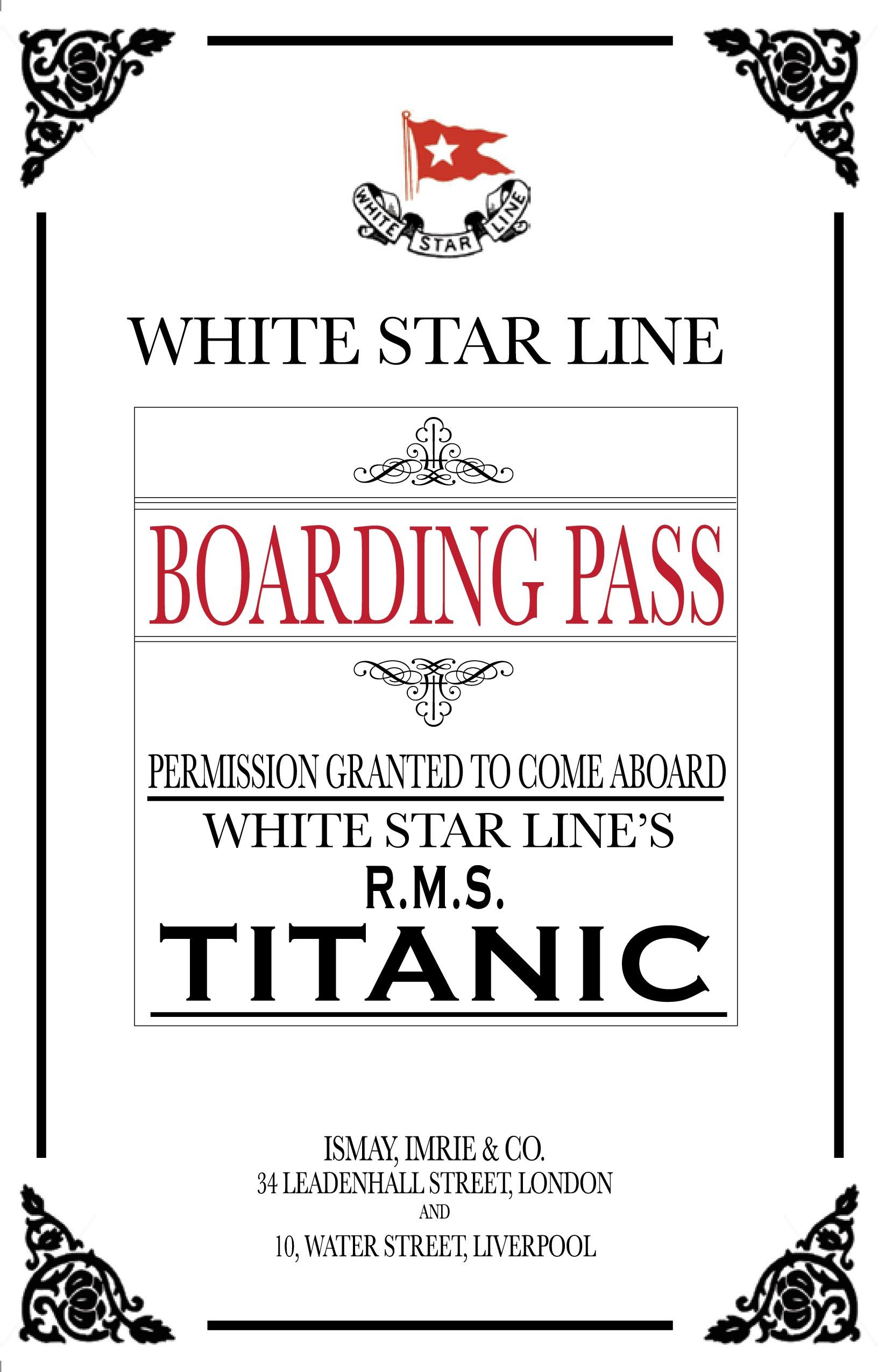 Titanic Dinner Party Invitations and Awards (yup, you read that ...