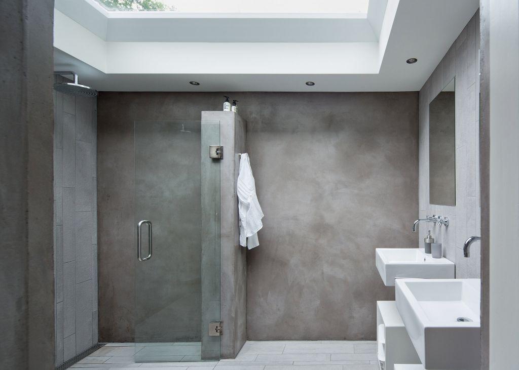 puristisches badezimmer mit sichtbeton andrea pinterest badezimmer bad und baden. Black Bedroom Furniture Sets. Home Design Ideas