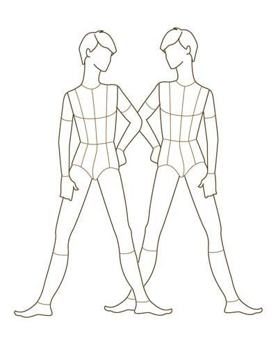 Young Mens Fashion Design Croqui V4 - Designers Nexus Croquis - fashion designer templates