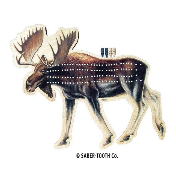 Moose Cribbage Board  Fun Animal Shaped Games by SaberToothCompany