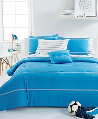 lacoste home thames malibu blue comforter sets | shopping