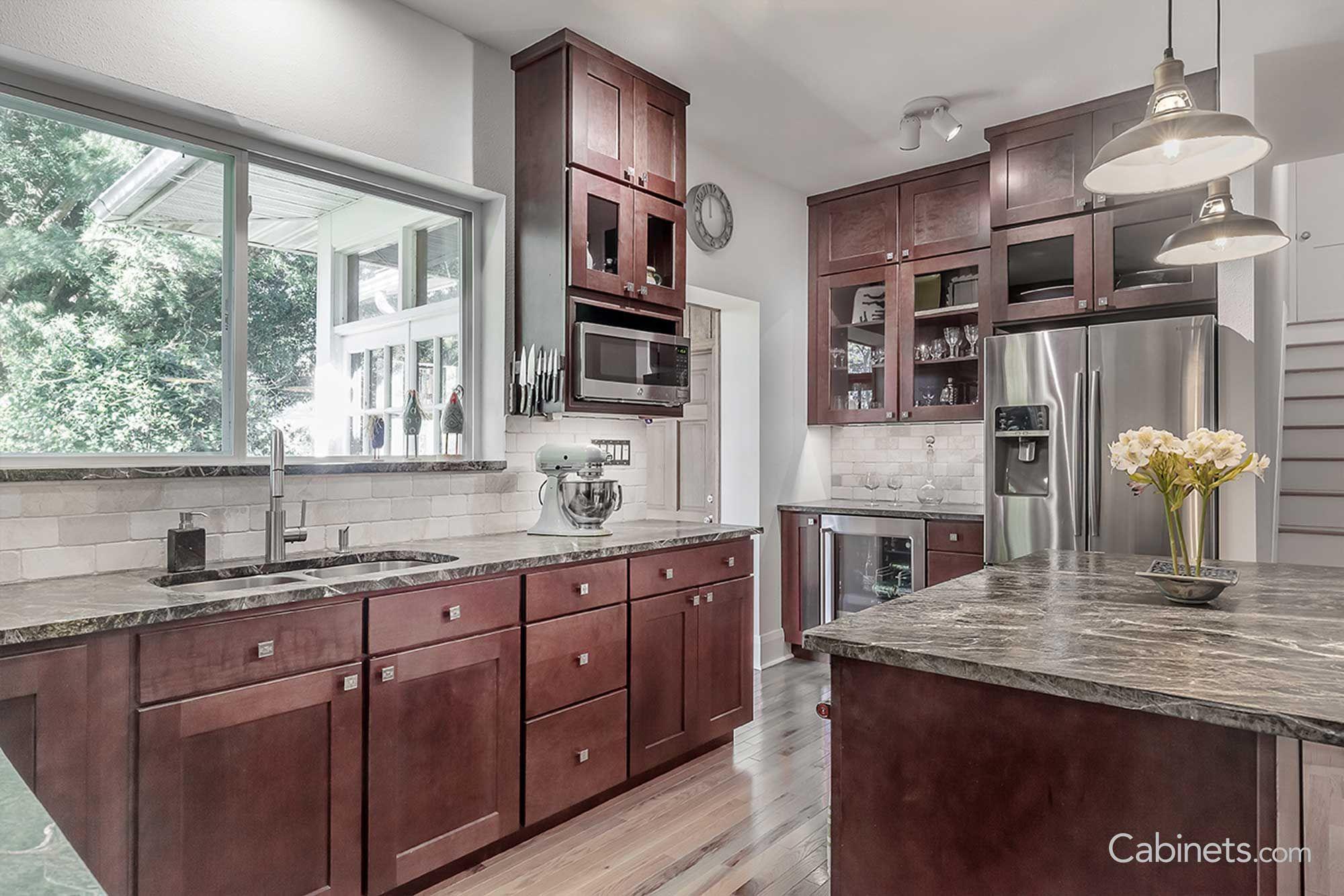 shaker cherry java kitchen remodel kitchen renovation kitchen on kitchen cabinets java id=74674