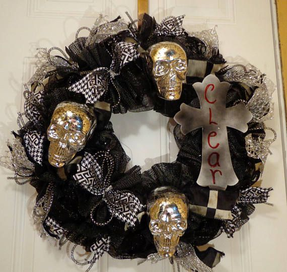 Halloween Door Wreath Best Halloween Door Walking Dead Etsy Shop - pinterest halloween door decor
