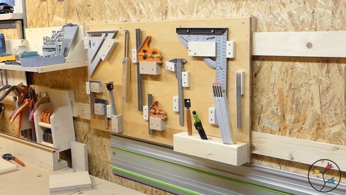 der perfekte messwerkzeug halter home organizing tips tricks in 2018 tools tool storage. Black Bedroom Furniture Sets. Home Design Ideas