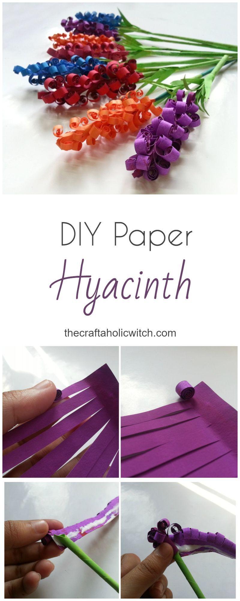 DIY Papier Hyazinthe Blumen – Die Craftaholic Hexe # craftaholic #diy #flowers #hy …