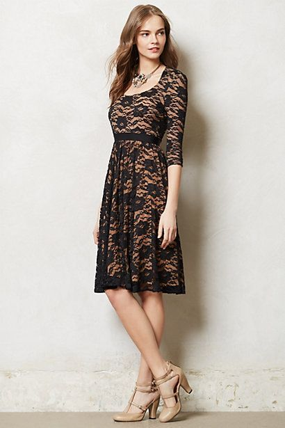 Stretch lace dress, Anthropologie. | Fashion | Dresses