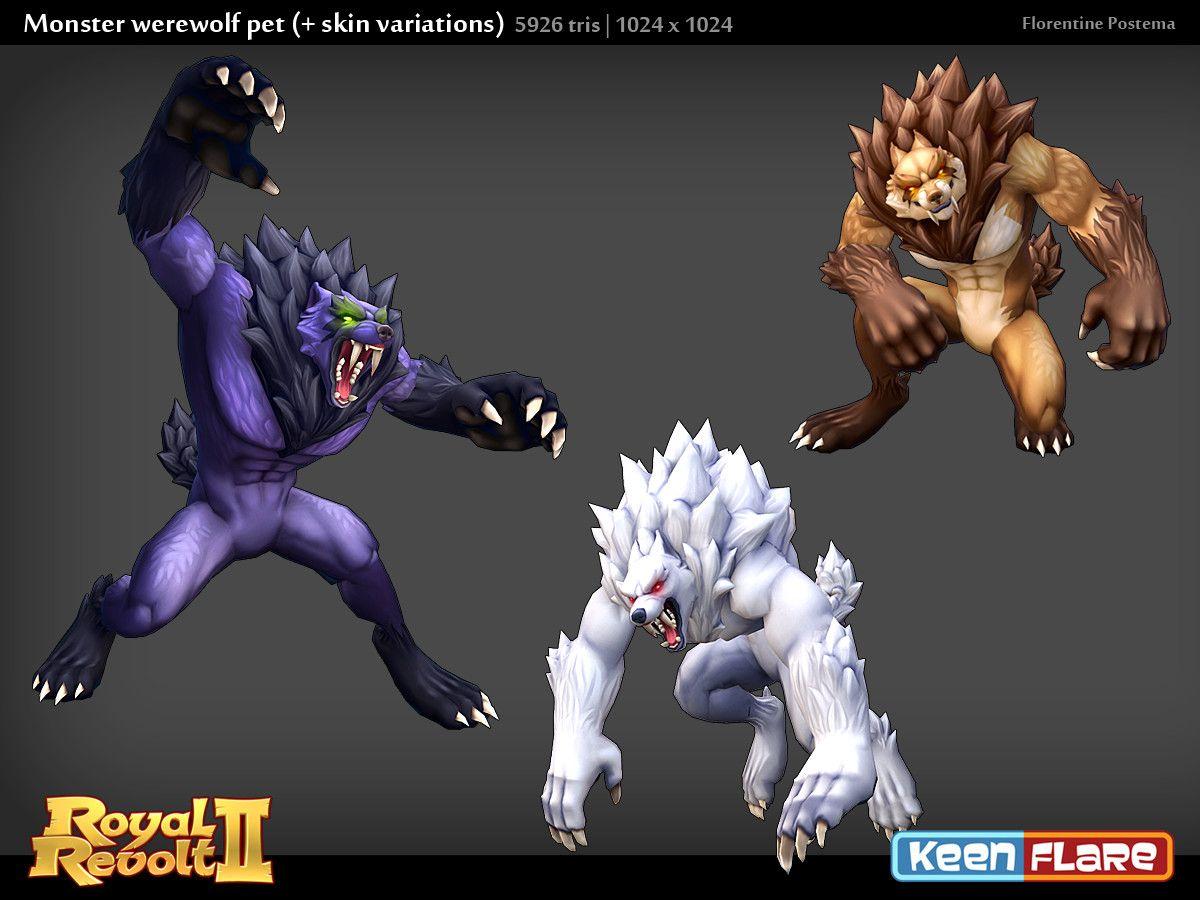 Artstation Royal Revolt 2 Character Monster Werewolf Pal Florentine Postema Character Werewolf Revolt 2