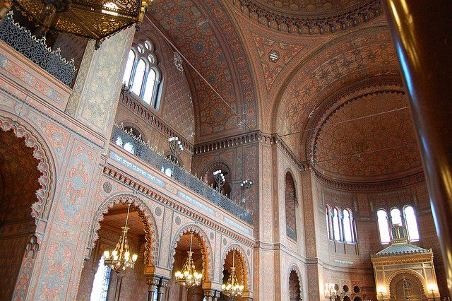 Italian Florence: Great Synagogue Of Florence Dome Interior (Temple Maggiore