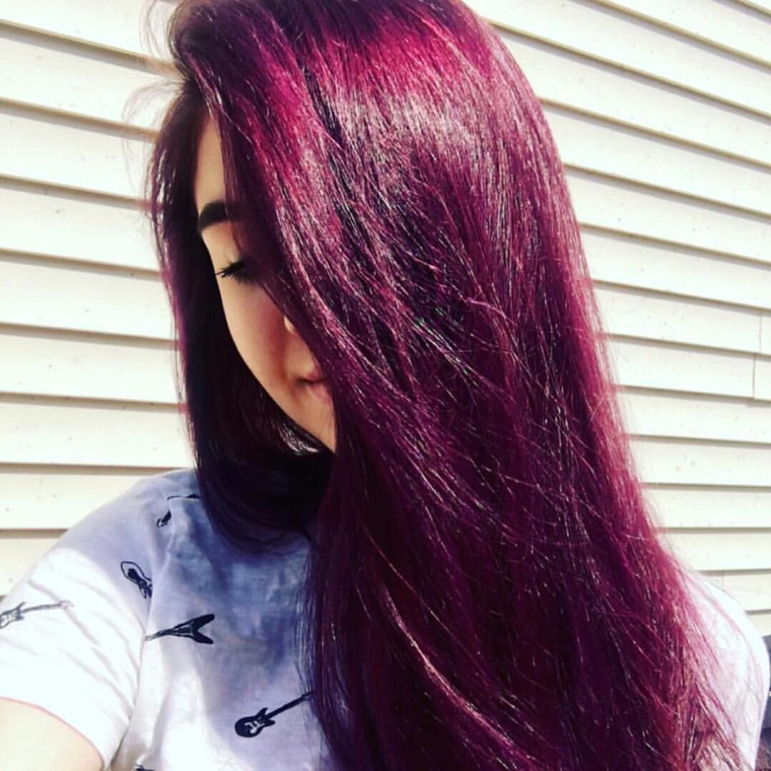 14k Likes 54 Comments Vegan Cruelty Free Color Arcticfoxhaircolor On Instagram What A Burgundy Babe Fox Hair Dye Dyed Red Hair Arctic Fox Hair Color