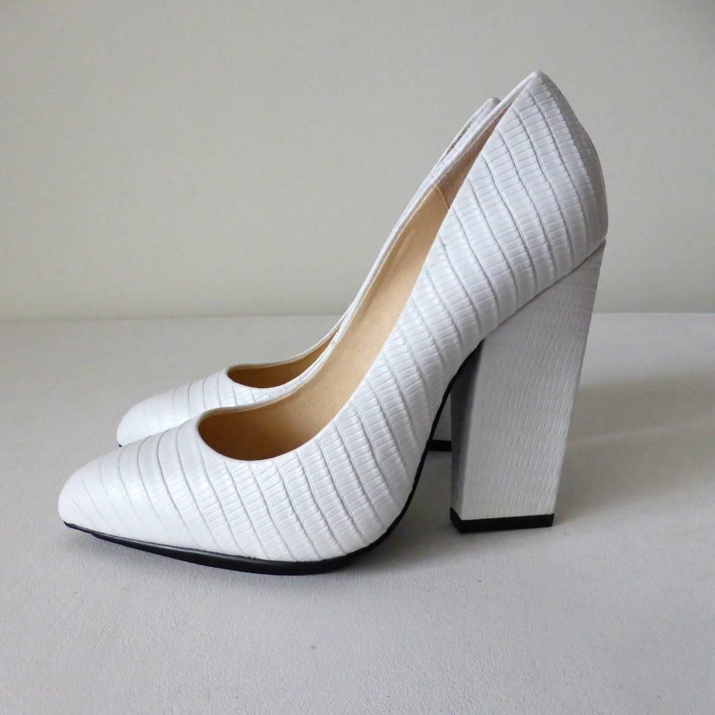397d20c0 35 White Women's Shoes Wittner Size New Leather Rrp159 Block w0PnkO