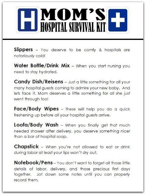 Hospital Survival Kit Gift For New Moms And Dads Baby