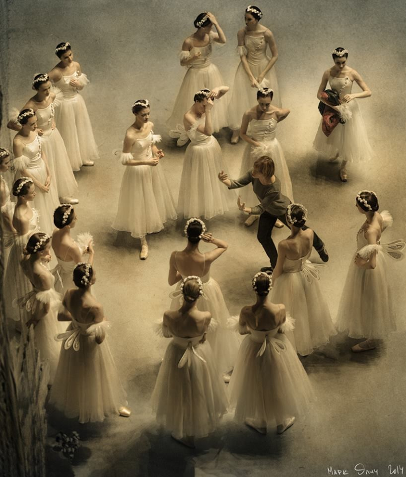 La Sylphide corps de ballet