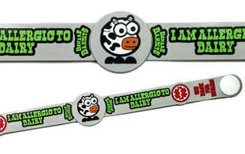 Child Dairy Allergy Medical Id Alert Bracelet